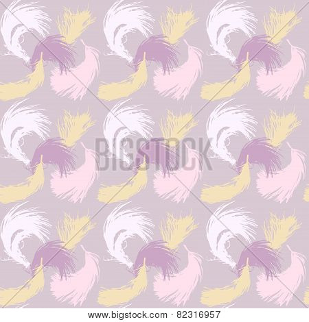 Seamless pattern with the image of feathers fluff