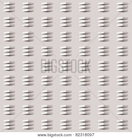 Vector seamless pattern. Simple monochrome pattern with the illusion of volume
