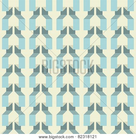 Seamless texture with effect of volume, 3d. Paper garland