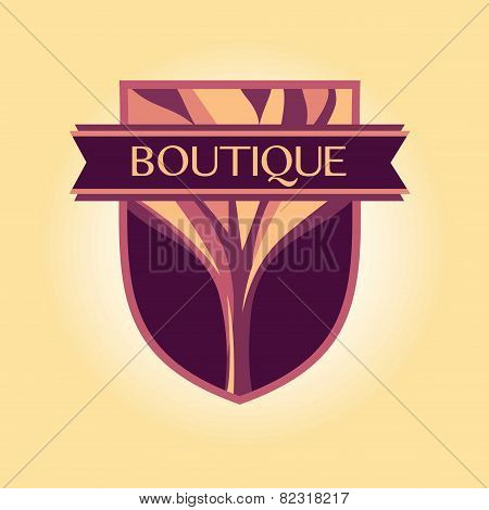 Vector style logo Clothing, accessories, wood products
