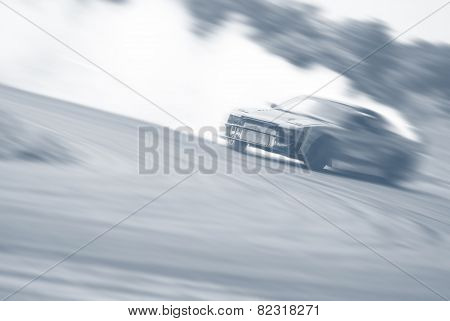 Very Fast Driving, Motion Blur Drift Vintage