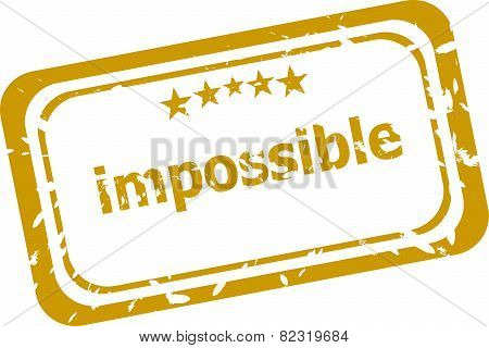 Impossible Stamp Isolated On White Background