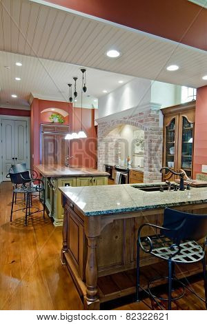 expensive kitchen remodel in Tuscan style