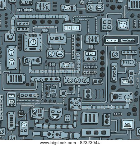 Seamless pattern with some kind of electrical appliances