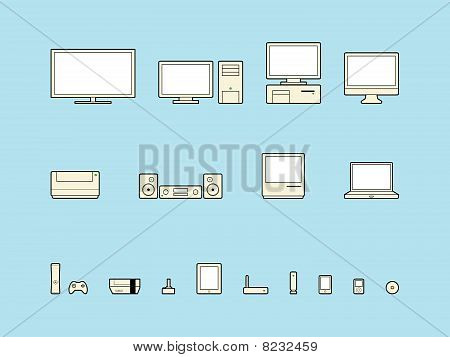 Home Electronics Icons