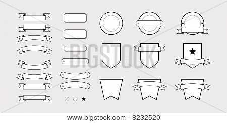 Vector Badge Web Elements