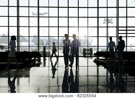 Business Travel Airport Terminal Trip Commuter Concept