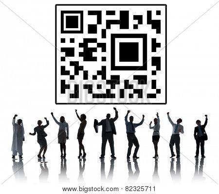 Qr Code Marketing Data Concept