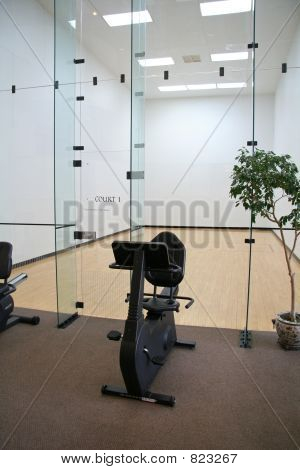 Racquetball Court with Exercise Bike