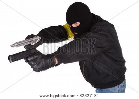 Robber With Handgun