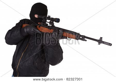 Killer With Sniper Rifle