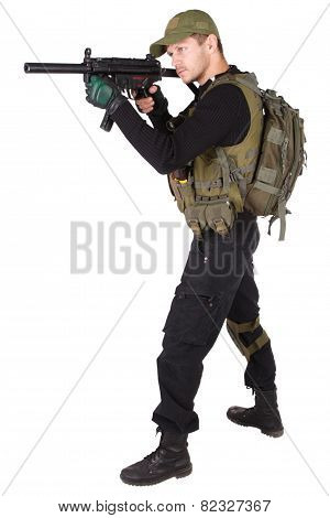 Mercenary With Mp5 Submachine Gun