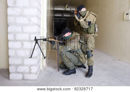 Insurgents With Ak 47 And Gun