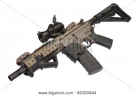 special forces rifle isolated