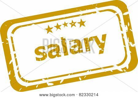 Salary Stamp Isolated On White Background