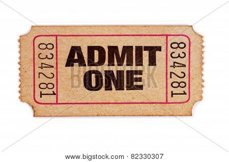 Stained And Damaged Admission Ticket