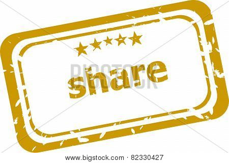 Share Stamp Isolated On White Background