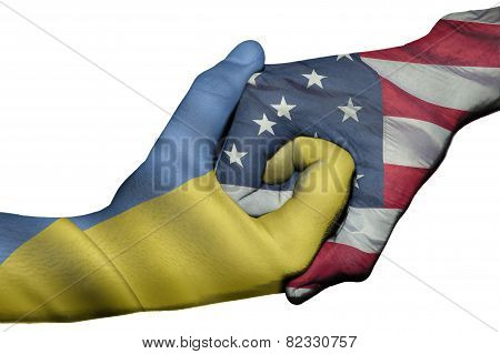 Handshake Between Ukraine And United States