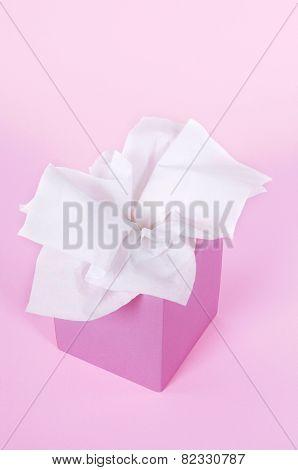 Pink Tissue Box