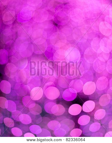 Defocused purple Christmas lights ideal for backgrounds