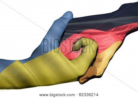 Handshake Between Ukraine And Germany