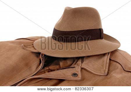 Fedora And Leather Jacket