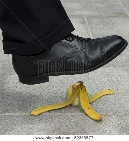 Businessman Banana Accident