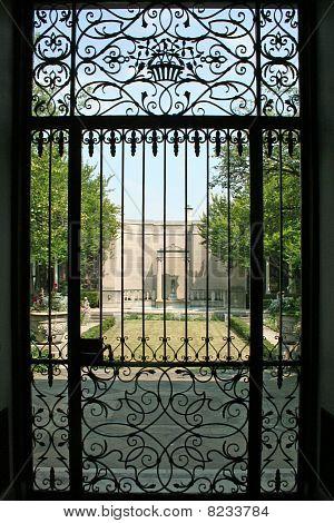 black iron garden gate