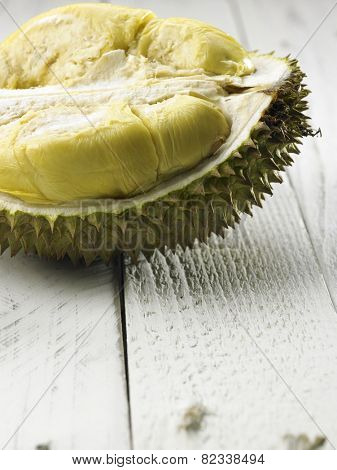 malaysia fruit durian on the wooden table