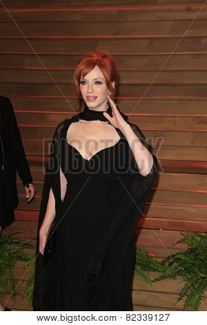 WEST HOLLYWOOD - MAR 2:: Christina Hendricks at the 2014 Vanity Fair Oscar Party on March 2, 2014 in West Hollywood, California