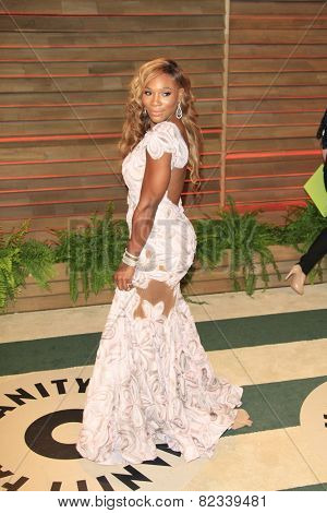 WEST HOLLYWOOD - MAR 2:: Serena Williams at the 2014 Vanity Fair Oscar Party on March 2, 2014 in West Hollywood, California