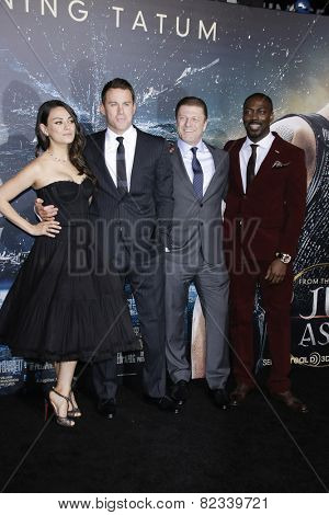 LOS ANGELES - FEB 2: Mila Kunis, Channing Tatum, Sean Bean, David Ayala at the 'Jupiter Ascending' Los Angeles Premiere at TCL Chinese Theater on February 2, 2015 in Hollywood, Los Angeles, California