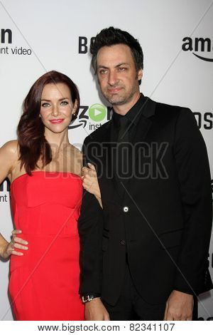 LOS ANGELES - FEB 3:  Annie Wersching, Stephen Full at the