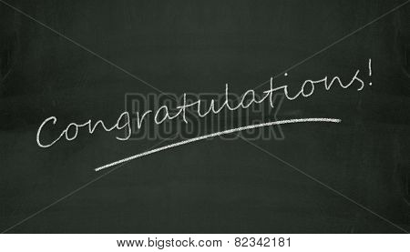 Chalkboard Congratulation Illustration