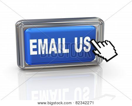 3D Hand Cursor Button - Email Us