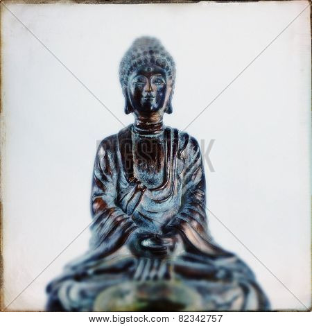 Instagram filtered image of a Buddha