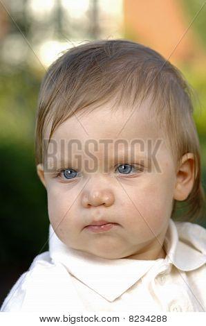 Closeup of the toddler