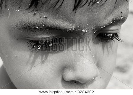 a child's face