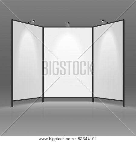 Blank trade show booth. Vector.