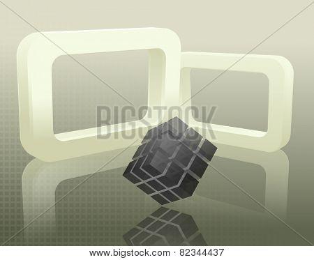 Tech business design illustration