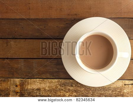 Top View Of Hot Chocolate - Hot Beverage