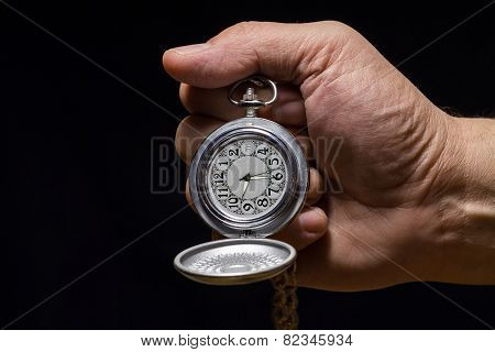 Pocket Watch In  Hand.