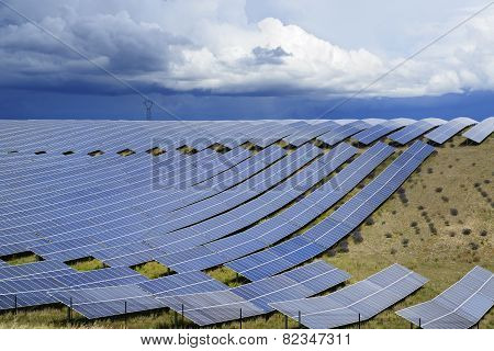 Solar Panels And Storm