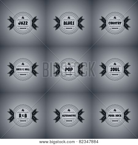 Music Badge set