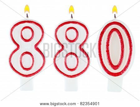 Candles Number Eight Hundred Eighty