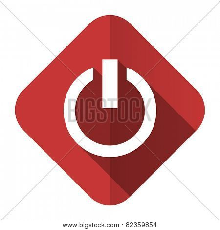 power flat icon on off sign