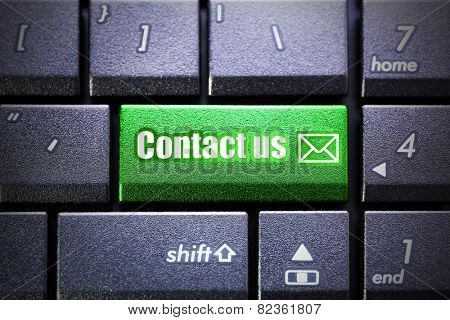 Contact us button on the computer keyboard