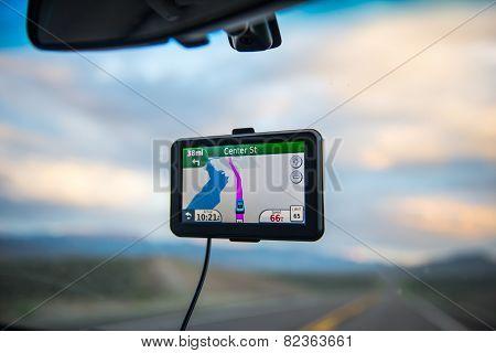 GPS in a car