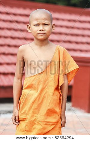 Young monk in wat Leu