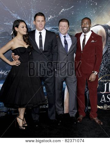 LOS ANGELES - FEB 2:  Mila Kunis, Channing Tatum, Sean Bean, David Ayala at the